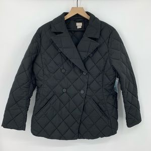 NWOT Chico's Quilted Puffer Jacket 2 US Large